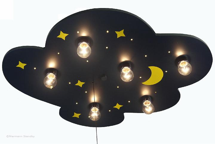 kinderzimmerlampe sternenhimmel led kinderlampe blau ebay. Black Bedroom Furniture Sets. Home Design Ideas