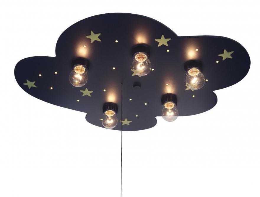wolke blau 742 niermann kinderwolke kinderleuchte kinderlampe led blau f. Black Bedroom Furniture Sets. Home Design Ideas