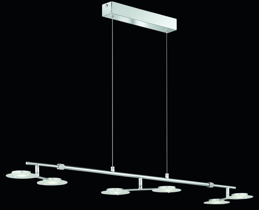 trio led pendelleuchte frisbee 323010606 6x3w 3500k lifestyle lampe h ngelampe. Black Bedroom Furniture Sets. Home Design Ideas