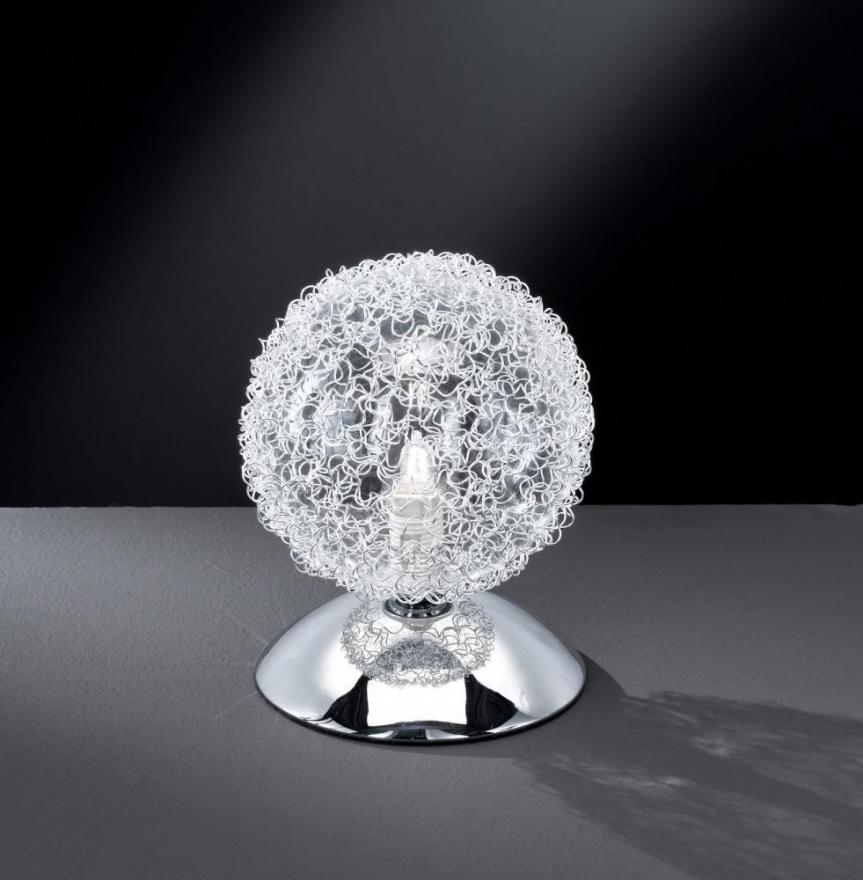 wofi arc tischleuchte tischlampe kugelleuchte leuchte touch 1 flammig chrom. Black Bedroom Furniture Sets. Home Design Ideas